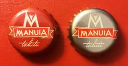 """Polynésie Française - Tahiti / 2 Différentes Capsules De Bière """"Manuia"""" - Bière"""