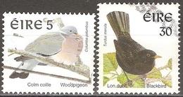Irlande - 1998 - Pigeon Ramier Et Merle - YT 1057 Et 1058 Oblitérés - Oblitérés