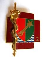 INSIGNE DU SERVICE DE SANTEE DES ARMEES 2° RM J.BALME SAUMUR ETAT EXCELLENT HOMOLOGUE G4566 - Medicina