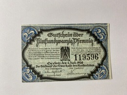 Allemagne Notgeld Geelow 25 Pfennig - [ 3] 1918-1933 : République De Weimar