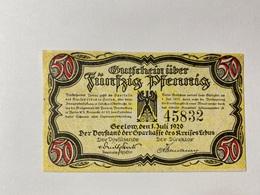Allemagne Notgeld Geelow 50 Pfennig - [ 3] 1918-1933 : République De Weimar