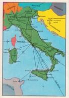 """N. 5 VIE DI COMUNICAZIONI TERRESTRI ED AEREE - FIGURINA STICKER PANINI """"ITALIA PATRIA NOSTRA 1968"""" - Panini"""