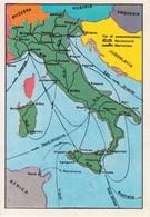 """N. 6 VIE DI COMUNICAZIONI FERROVIARIE E MARITTIME - FIGURINA STICKER PANINI """"ITALIA PATRIA NOSTRA 1968"""" - Panini"""
