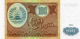 TAJIKISTAN 100 RUBLES 1994 P-6a  UNC - Tadzjikistan