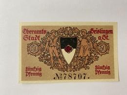 Allemagne Notgeld Oberamts-stadt 50 Pfennig - [ 3] 1918-1933 : République De Weimar