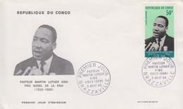 Enveloppe  FDC  1er  Jour   GABON      MARTIN   LUTHER  KING    1968 - Martin Luther King