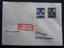 Generalgouvernement 1940, RECO- Brief Mi 25-26 KRAKAU - Besetzungen 1938-45