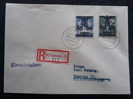 Generalgouvernement 1940, RECO- Brief Mi 25-26 KRAKAU - Occupation 1938-45