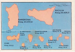 "N. 14 LE ISOLE - FIGURINA STICKER PANINI ""ITALIA PATRIA NOSTRA 1968"" - Panini"