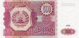 TAJIKISTAN 500 RUBLES 1994 P-8a  UNC - Tadzjikistan