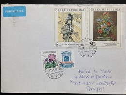 """Czechia, Circulated Cover To Portugal, """"Art"""", """"Painting"""", """"Famous People"""", 2012 - Tschechische Republik"""