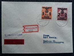 Generalgouvernement 1940, RECO Brief Mi 27-28 KRAKAU - Occupation 1938-45