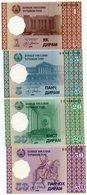 TAJIKISTAN 1,5,20,50 DIRAMS 1999 P-10,11,12,13a  UNC - Tadzjikistan
