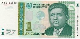 TAJIKISTAN 1 SOMON 1999 P-14A  UNC - Tadzjikistan