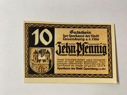 Allemagne Notgeld Lauenburg 10 Pfennig - [ 3] 1918-1933 : République De Weimar