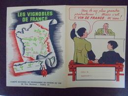 PROTEGE-CAHIER - LE VIN FRANCAIS - Carte Assorbenti