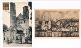 JUMIEGES .76 . Entrée Abbaye .abbaye .2 Cartes - Jumieges