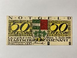 Allemagne Notgeld Laupheim 50 Pfennig - [ 3] 1918-1933 : République De Weimar