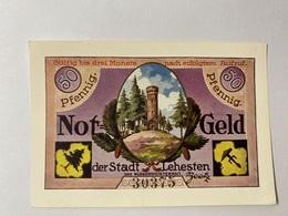 Allemagne Notgeld Lehesten 50 Pfennig - [ 3] 1918-1933 : République De Weimar