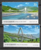 TAIWAN, 2019, MNH, SUHUA HIGHWAY IMPROVEMENT, BRIDGES, MOUNTAINS,2v - Bruggen