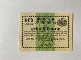 Allemagne Notgeld Leipzig 10 Pfennig - [ 3] 1918-1933 : République De Weimar