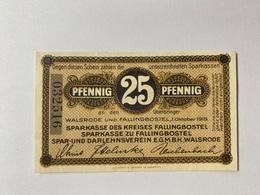Allemagne Notgeld Walsrode 25 Pfennig - [ 3] 1918-1933 : République De Weimar