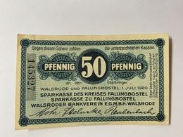Allemagne Notgeld Walsrode 50 Pfennig - [ 3] 1918-1933 : République De Weimar