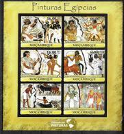 MOZAMBIQUE Feuillet N° 4210/15  * *  ( Cote 22e ) Egyptologie - Egyptologie