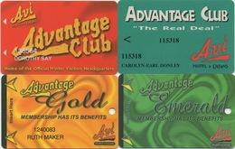 Lot (1) De 4 Cartes : Avi Resort & Casino : Laughlin NV - Casinokarten