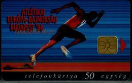 HUNGARY 1998 PHONECARD SPORT ATLETIKA BUDAPESHT 98 USED VF!! - Sport
