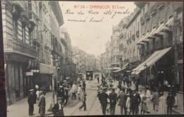 Cpa,  ZARAGOZA Phototipia Thomas N° 24, El Coso, Animacion, écrite En 1912, ESPAGNE - Zaragoza