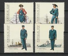 PORTUGAL 1983-85 YT N° 1565 à 1568, 1600 à 1603 Et 1623 à 1626 ** Série Uniformes Militaires - 1910-... República
