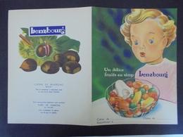 PROTEGE-CAHIER - LENZBOURG :UN DELICE FRUITS AUSIROP - Löschblätter, Heftumschläge