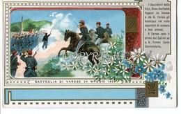 SERIE COMPLETA DI 8 CARTOLINE 9X14 DELLE BATTAGLIE PIù NOTE DL 1800-La1a La Battaglia Di Varese 24 Maggio 1859 - History
