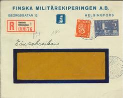 Helsinki Helsingfors 1936 - FK R-Brief - Finska Militärekiperingen - Finlandia