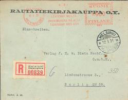 Helsinki 1931 R-Brief Nach Berlin (rsA) - Finlandia