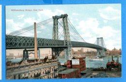NY576, Williamsburg Bridge, New York, Boat, Non Circulée - Ponts & Tunnels