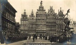 FOTO KAARTABNAHME DER PARADE DER MARINE LANDWEHR  EERSTE WERELDOORLOG  WWI ANTWERPEN ANVERS WWICOLLECTION - Antwerpen