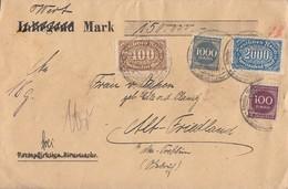 DR Wertbrief Mif Minr.250,253,268,273 SST Freienwalde 21.8.23 - Covers & Documents