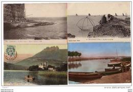 4 CPA  La PECHE        (  Etretat-  Lac  Annecy-  Lacanau- )        Ref..A0.198 - Fishing