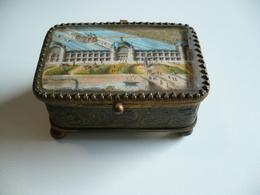 Petit Coffret à Bijoux Ancien - Bronze ?? - 8 X 5 X 4,5 Cm De Hauteur Environ - Boîtes/Coffrets