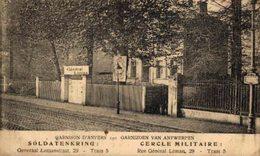 GARNIZOEN ANTWERPEN GARNISON SOLDATENKRING CERCLE MILITAIRE  TRAM 5  WWI ANTWERPEN ANVERS WWICOLLECTION - Antwerpen