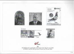 Belg. 2020 - Feuillet Noir & Blanc N° 2/5 ** -  (prévente 16/3/2020) - Black-and-white Panes