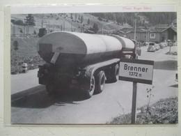 Transport Utilitaire - Brenner Pass  Passo Del Brennero -  Camion Citerne Station SHELL   - Coupure De Presse De 1964 - Camions