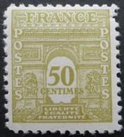 FRANCE Arc De Triomphe N°623 Neuf * - 1944-45 Arc De Triomphe