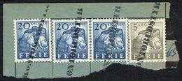 195?. FERIEMÆRKER. 5 KRONER + 3 Ex. 20 KRONER. KONTORUDSTYR. () - JF167153 - Port Dû (Taxe)