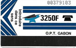 @+ Gabon - 3 250F Autelca - Verso Blanc - Ref : Gab-06 - Gabun