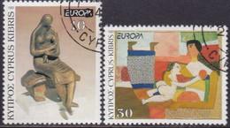 Cyprus 1993 SG #831-32 Compl.set Used Europa. Contemporary Art - Cyprus (Republic)