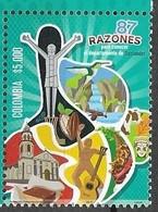 COLOMBIA, 2019, MNH, SANTANDER TOURISM CAMPAIGN, MUSIC, GUITARS, BIRDS, CHURCHES, COCOA, 1v - Hummingbirds