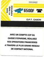 @+ Gabon - 6 500F Autelca - Verso CCP - Ref : Gab-07 - Gabun